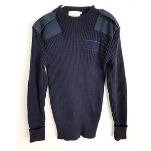 VINTAGE • Navy Wool Authentic Military Sweater